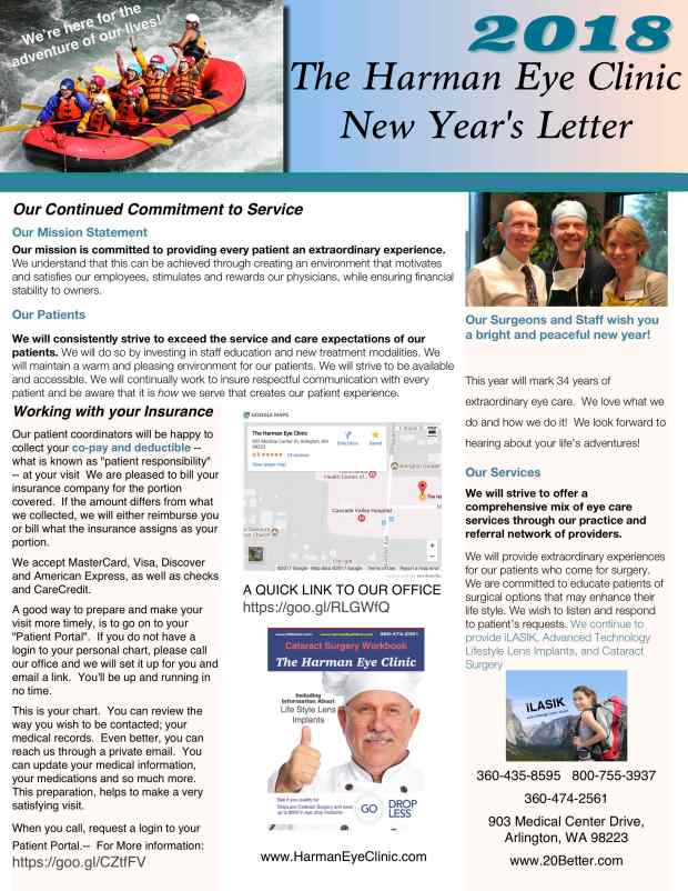 2018 Patient Annual New Year Letter